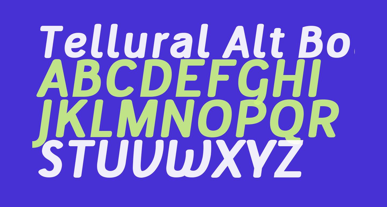 Tellural Alt Bold Italic