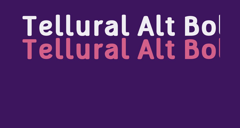 Tellural Alt Bold