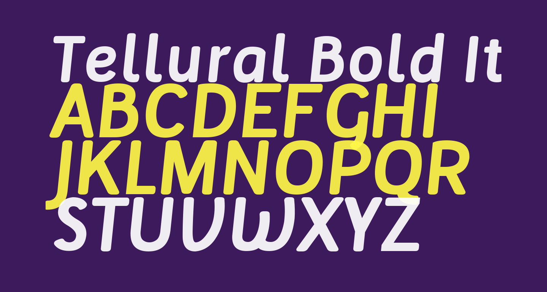 Tellural Bold Italic