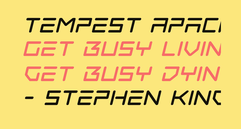 Tempest Apache Italic