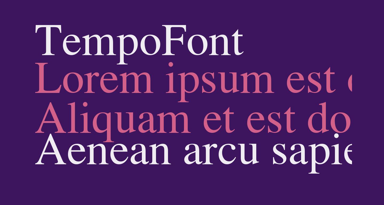 TempoFont