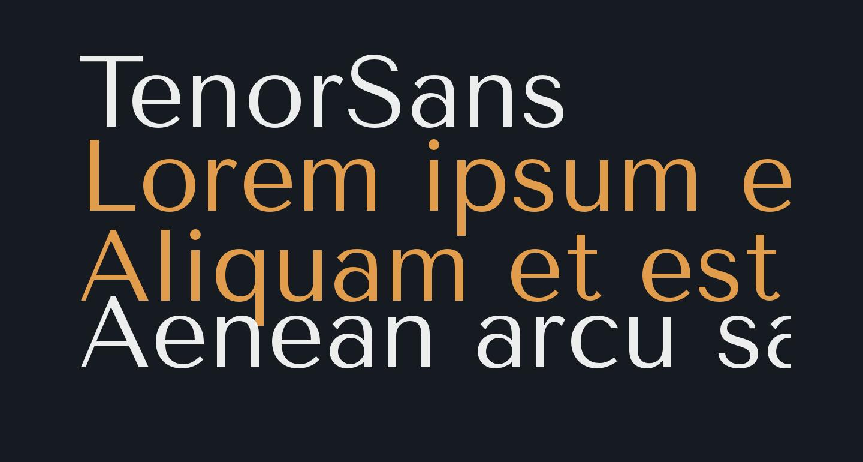 TenorSans
