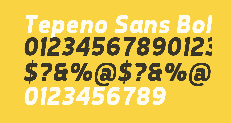 Tepeno Sans Bold Italic