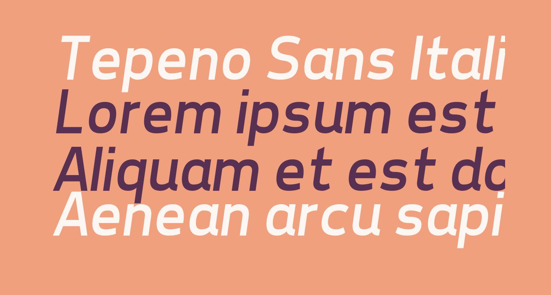 Tepeno Sans Italic
