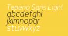 Tepeno Sans Light Italic