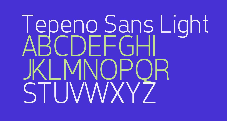 Tepeno Sans Light Regular