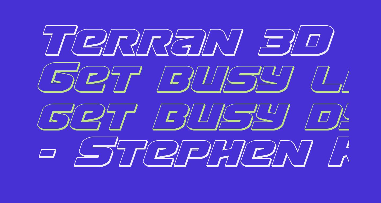 Terran 3D Italic