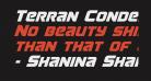 Terran Condensed Italic