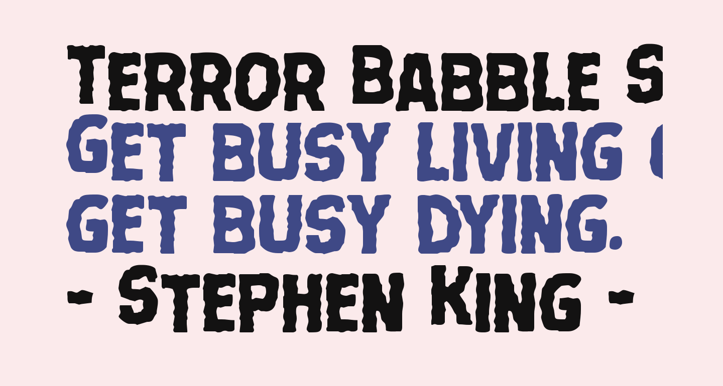 Terror Babble Staggered