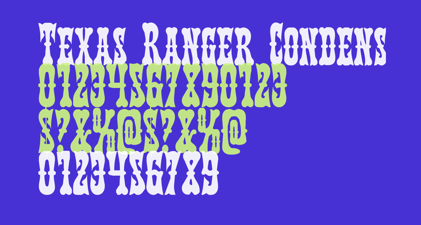 Texas Ranger Condensed
