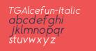 TGAlcefun-Italic