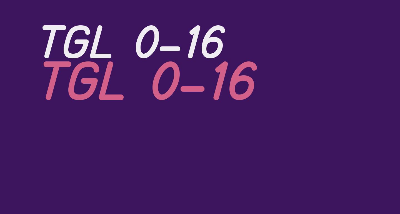 TGL 0-16