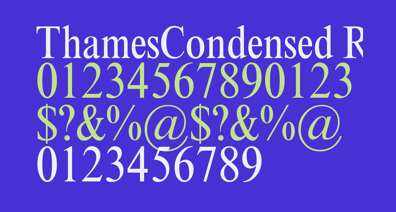 ThamesCondensed Regular