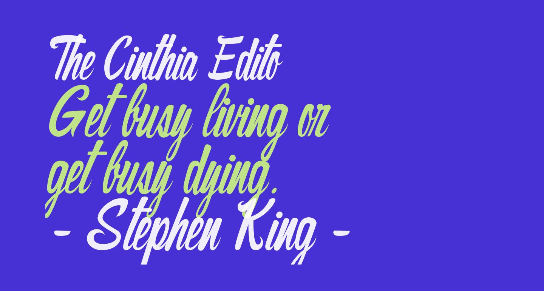 The Cinthia Edito
