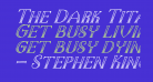 The Dark Titan Classicitalic