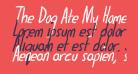 The Dog Ate My Homework Bold Italic