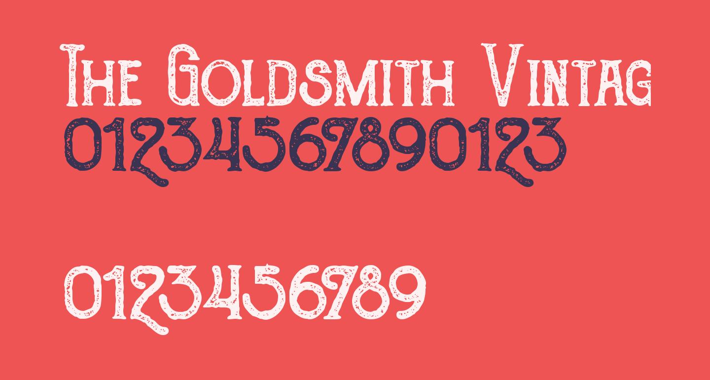 The Goldsmith Vintage