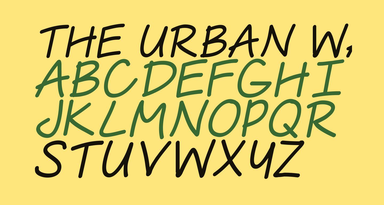 The Urban Way Thin Italic