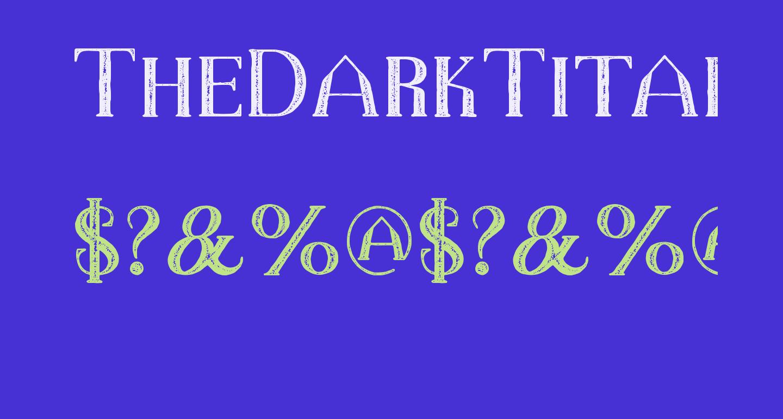 TheDarkTitanVintage