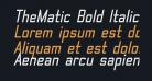 TheMatic Bold Italic