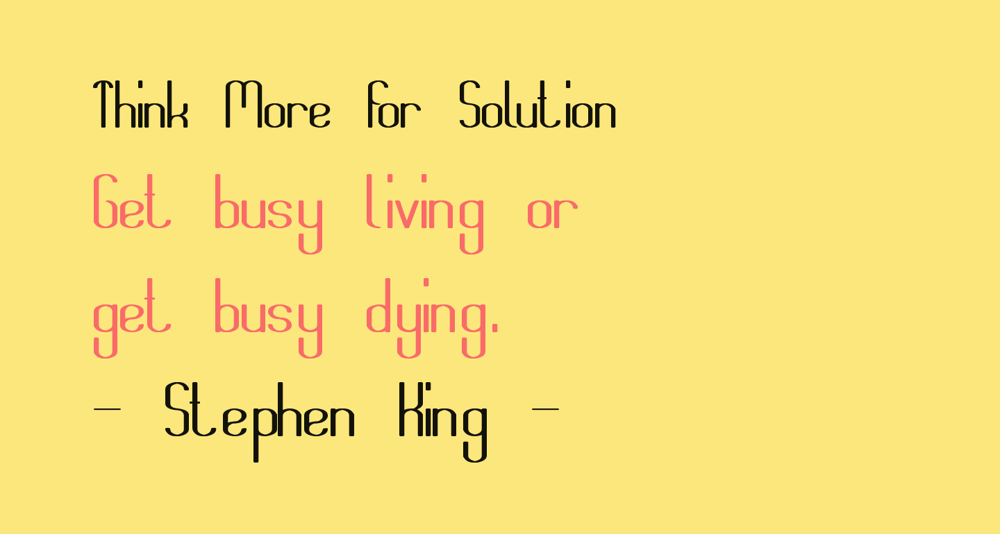 Think More for Solution