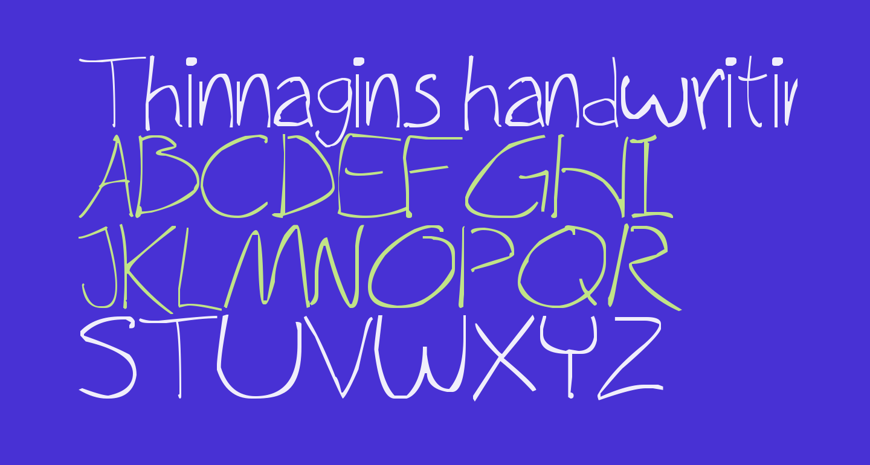 Thinnagins handwriting