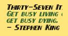 Thirty-Seven Italic