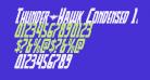 Thunder-Hawk Condensed Italic