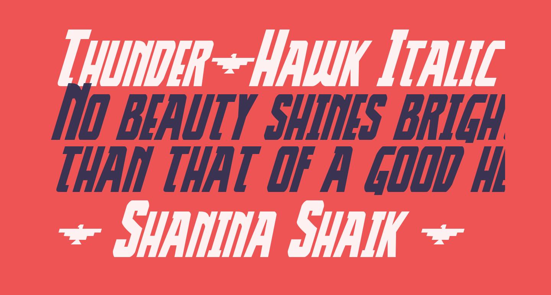 Thunder-Hawk Italic