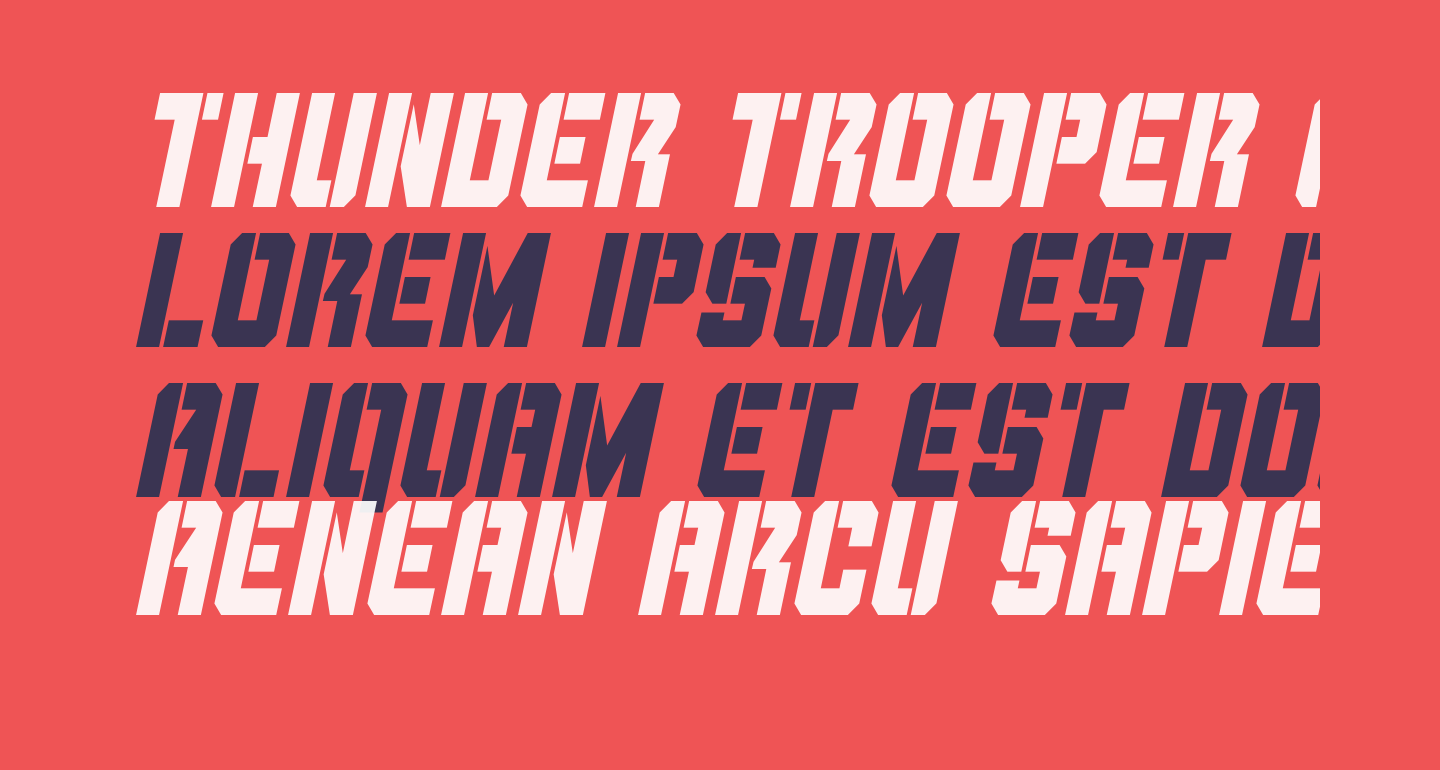 Thunder Trooper Condensed Italic