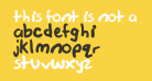 this font is not a typeface