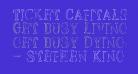 Ticket Capitals Outline Light