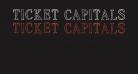 Ticket Capitals Outline Medium
