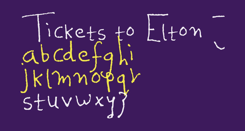 Tickets to Elton John
