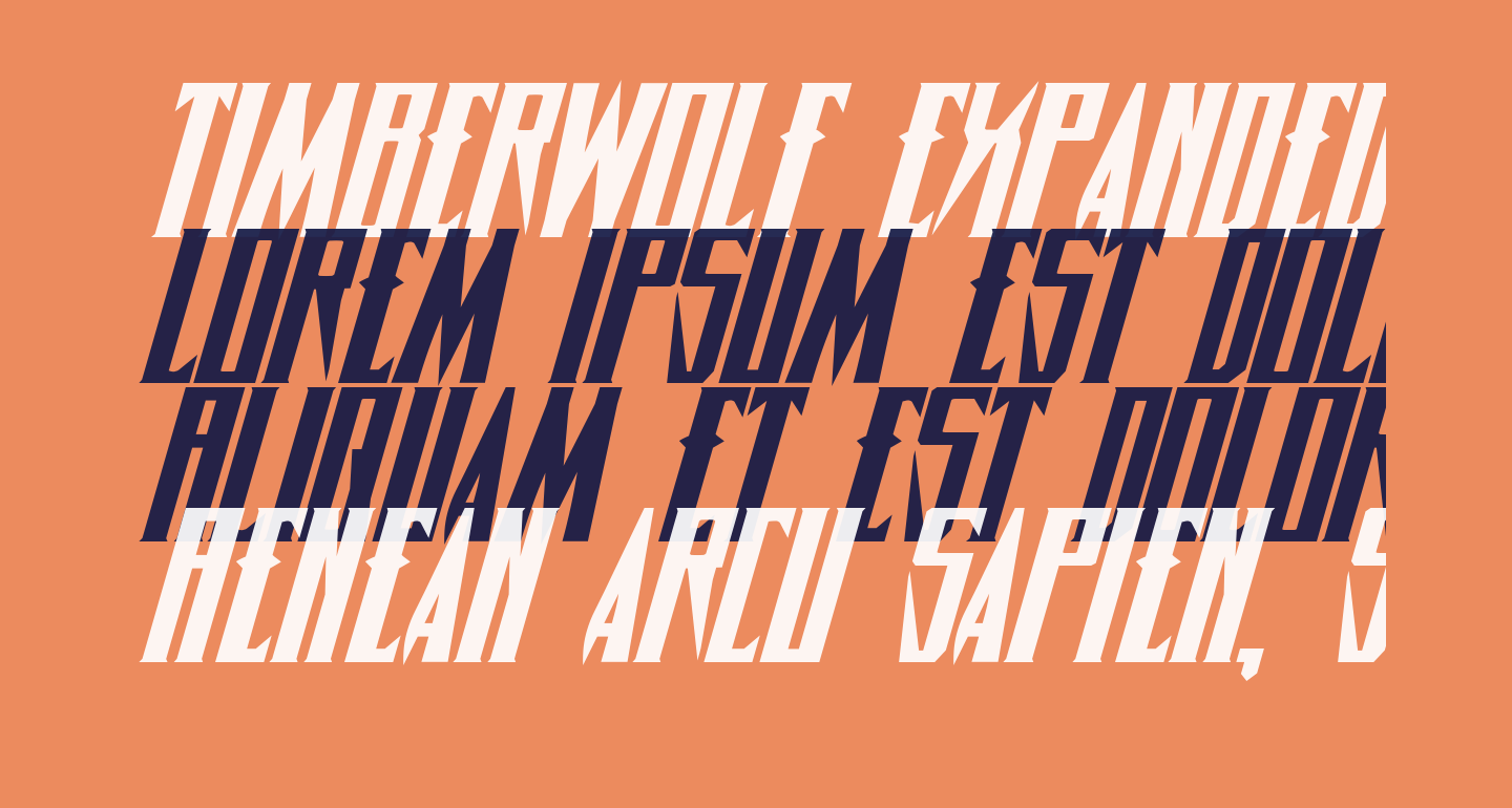 Timberwolf Expanded Italic