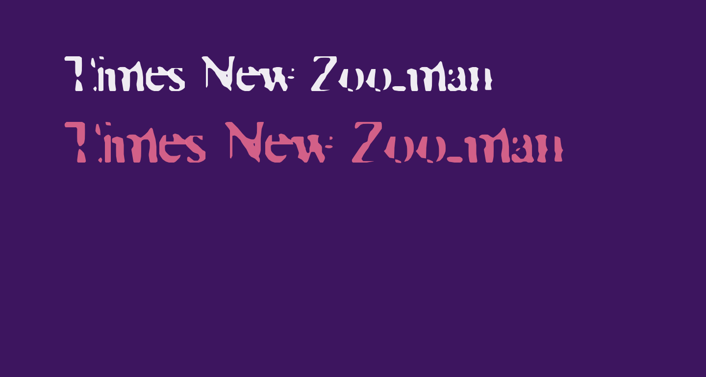 Times New Zoo-man