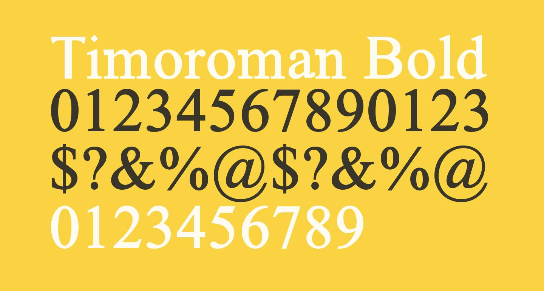 Timoroman Bold