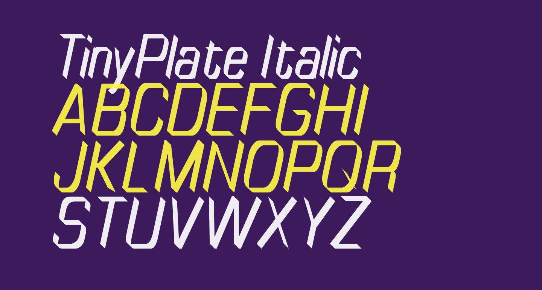 TinyPlate Italic