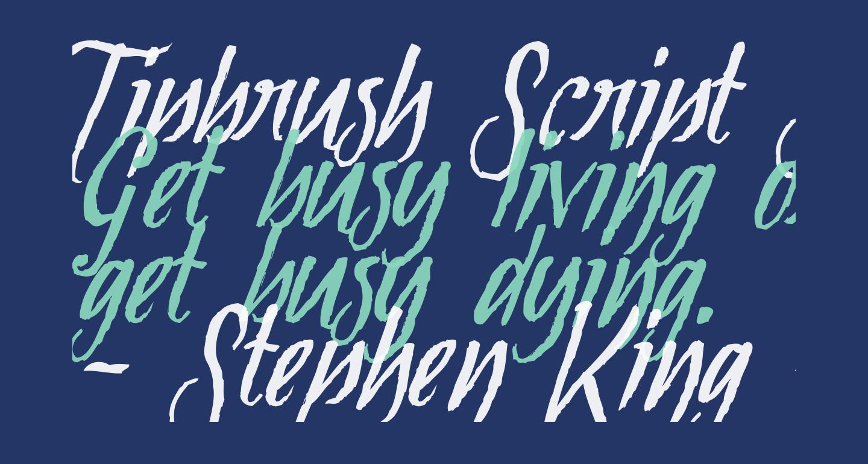 Tipbrush Script Slanted