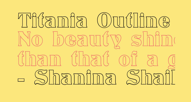 Titania Outline