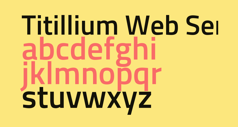 Titillium Web SemiBold