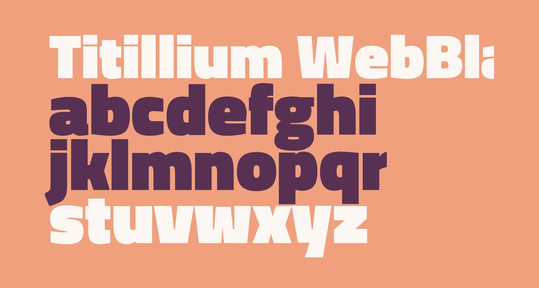 Titillium WebBlack