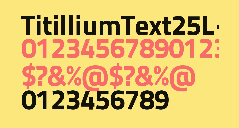 TitilliumText25L-999wt