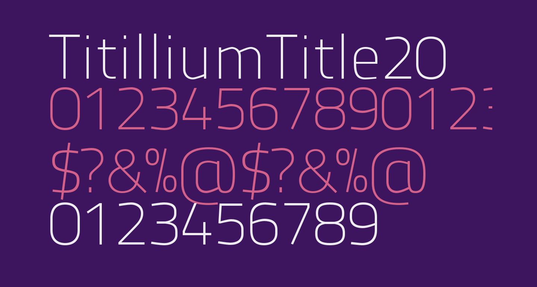 TitilliumTitle20