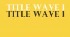 Title Wave Regular