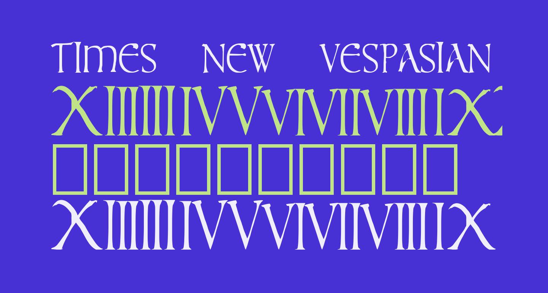 times new vespasian