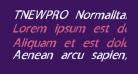 TNEWPRO NormalItalic