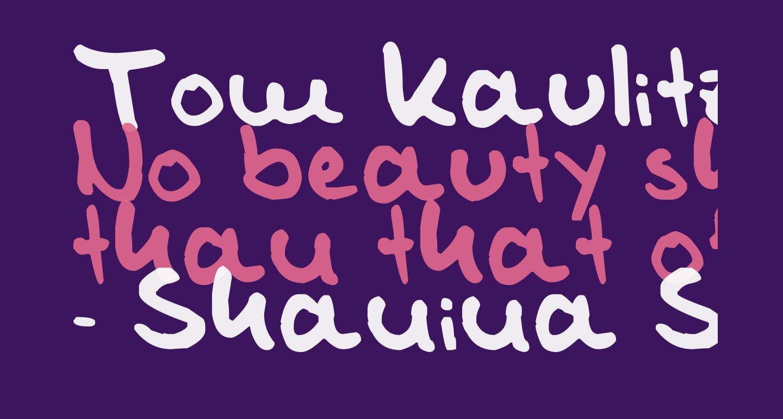 Tom Kaulitz's Handwriting