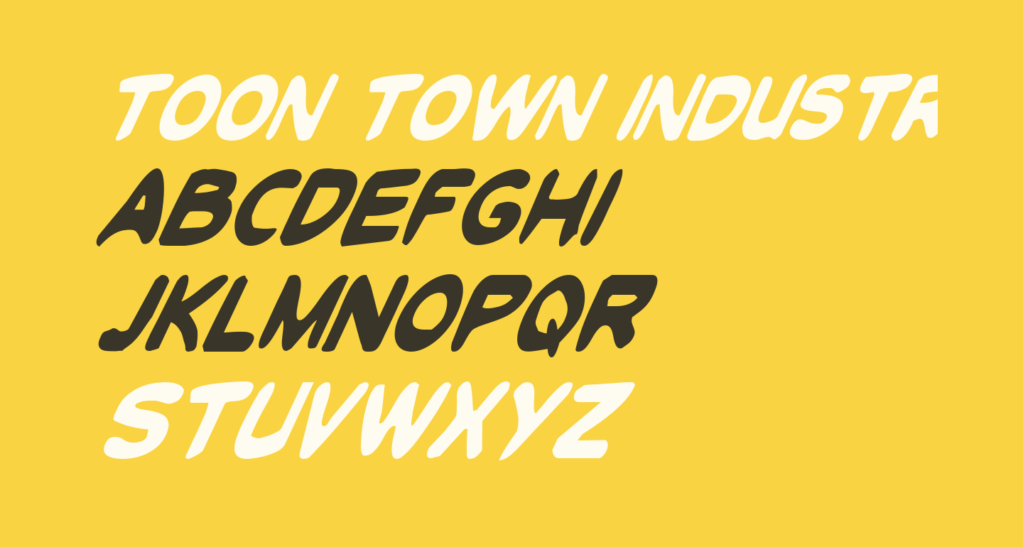 Toon Town Industrial Cond Ital