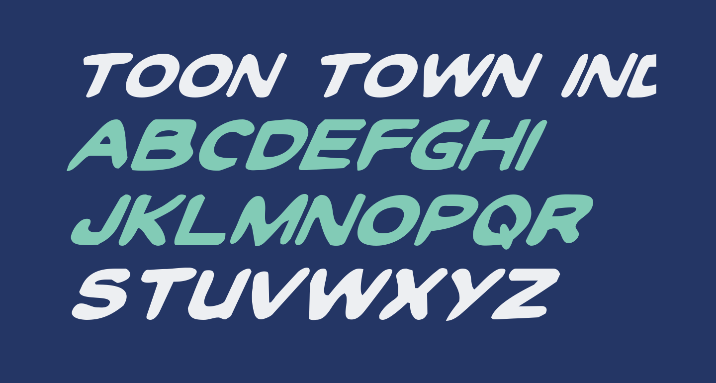 Toon Town Industrial Italic
